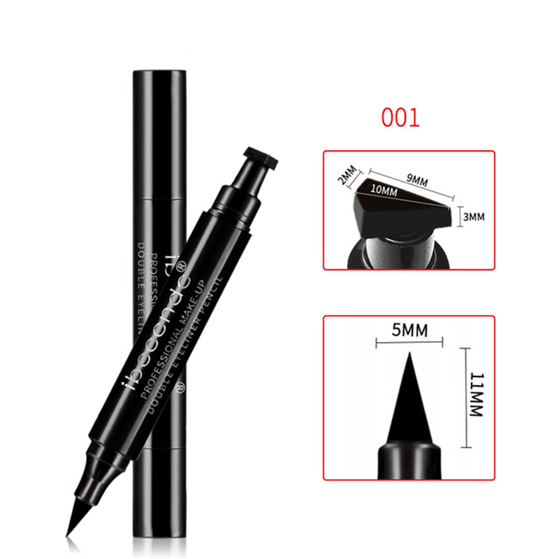 Ibcccndc Brand Eyes Liner Liquid Make Up Pencil Waterproof Black Double-Ended Makeup Stamps Eye Liner Eyeliner Pencil