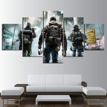 5 Piece HD Pictures Tom Clancys The Division 2 Game Poster Wall Paintings Canvas Art for Home Decor