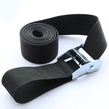 Long Black Tie Down Strap Strong Ratchet Belt Luggage Bag Cargo Lashing With Metal Buckle 6M*25mm