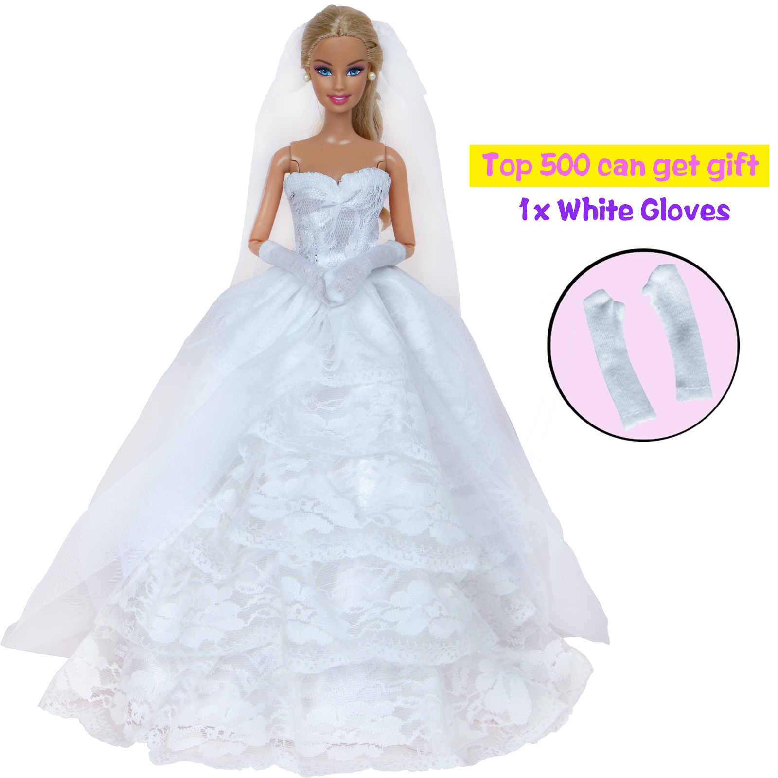 Barbie Contemporary (1973-Now) Dolls & Bears 6-pack Handmade Wedding Dress Party Gown Clothes Outfits for 11.5 inches Dolls