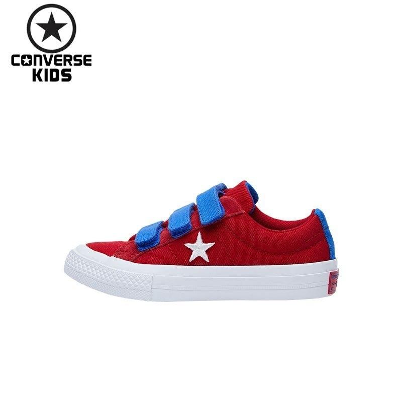 CONVERSE детская обувь вышивка хит Цвет низкой Magic субсидии парусиновая обувь # 660765C