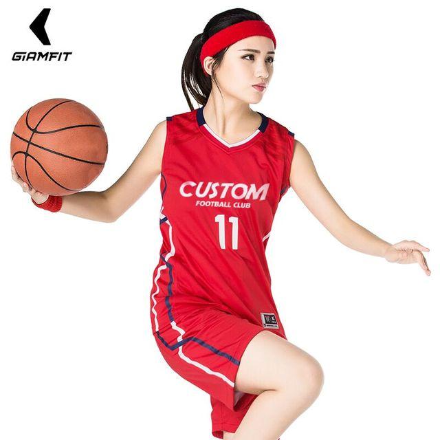 Femmes retour maillots de basket-ball chemises personnalisées + Shorts ensembles formation uniforme respirant panier femme vêtements survêtement JIANFEI