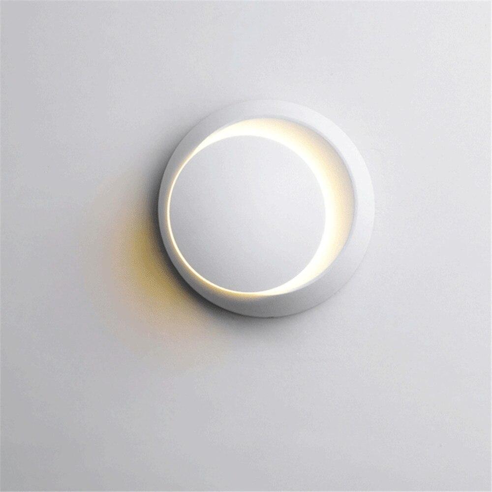 LED360 degrés rotatif rond croissant lampe murale simple créatif chevet chambre salon escalier allée applique AC90V-260V