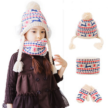 4b8efa61 Kocotree New Fashion 4-10 Years Children Knit Beanie Hat + Scarf + Glove 3