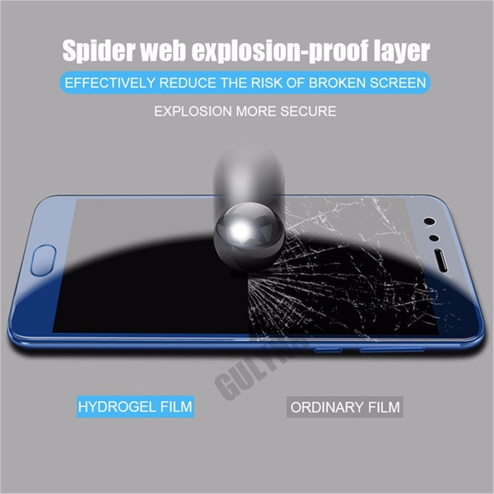 9D Full Cover Hydrogel Screen Protector Soft Film For Huawei P20 Mate 20 10 Lite Pro Soft Film For Huawei Honor 9 10 7X 8X Lite in Phone Screen Protectors from Cellphones Telecommunications