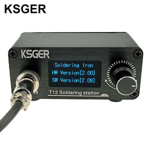 Image 2 - KSGER Mini estación de soldadura T12 DIY STM32 OLED V2.01, controlador con mango de 907, Kits de carcasa de aleación de aluminio, herramientas de soldadura T12, puntas de hierro