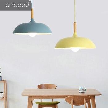 35 см40 см45 см60 см регулируемый скандинавский подвесной светильник для столовой кухни E27 красочный светодиодный современные алюминиевые по
