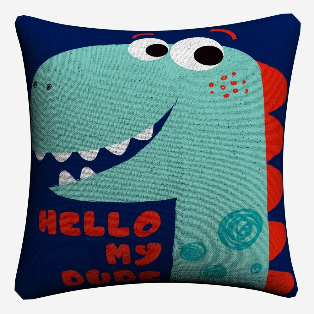Nursery Cartoon Dinosaur Kids Art Decorative Cotton Linen Cushion Cover 45x45cm For Sofa Chair Pillow Case Home Decor Almofada in Cushion Cover from Home Garden