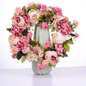 Image 3 - Grinalda artificial da peônia da grinalda da flor grinalda da mola da grinalda da porta de 16 polegadas para a porta da frente, casamento, casa d