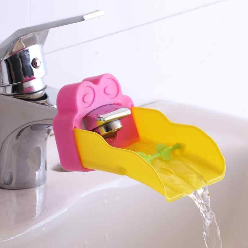 Милая мультяшная Лягушка Форма Ванная комната насадка для водяного крана Дети Ручные средства для мойки мытья ручной тренировочный инструмент для детей дети Babys