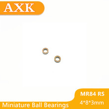 2019 Limited Mr84rs Bearing Abec-3 (10pcs) 4*8*3 Mm Miniature Mr84-2rs Ball Bearings Rs Mr84 2rs With Orange Sealed L-840dd 10pcs lot mr84 2rs mr84 rs 4x8x3mm the rubber sealing cover thin wall deep groove ball bearing miniature bearing