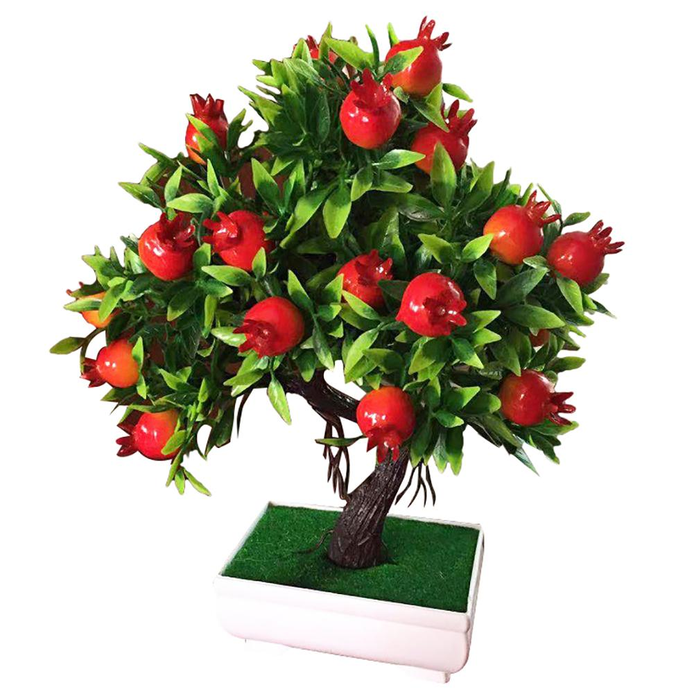 Potted Artificial Tree Fruit Plant Bonsai Small Tree Pot Plants Bonsai Stage For Garden Hotel Wedding Party Decoration Decor
