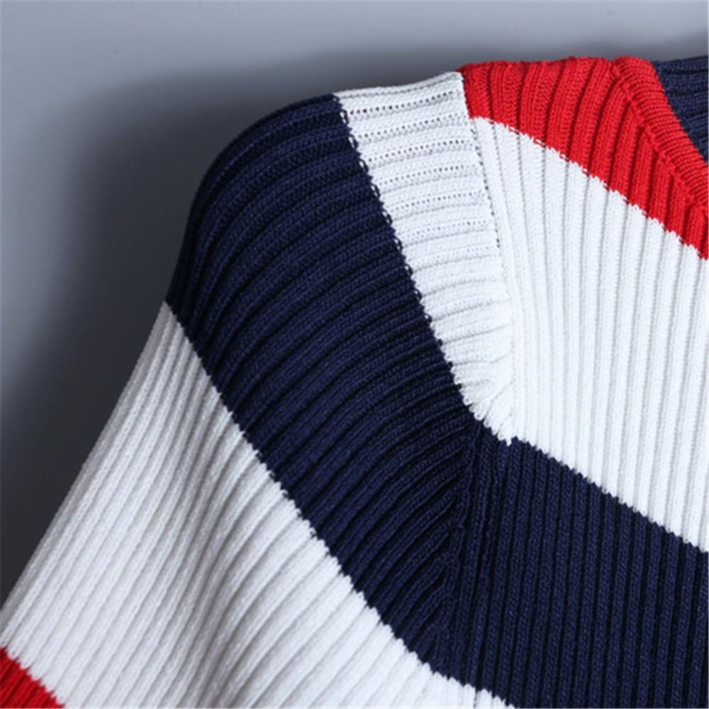 Ruffles Strickpullover Multicolor New Thin Runway T Top Sleeve Sweet Female Striped 2019 Jumper Design Shirt Short Women Summer shirt wUx1Pagx