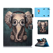 Printed PU Leather Case For Huawei Mediapad T3 7 3G BG2-U01 Tablet case T3 3G 7.0 Tablet Cover 7 inch Universal with Card Slots cover for huawei mediapad x1 7 0 3g pu leather stand case girl kids protect case 7 inch universal w screen protector film