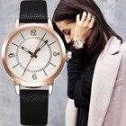 ✔  Роскошные женские Часы Простой Стиль Кожаный Ремешок Кварцевые Часы Модные Наручные Часы Женские Час ✔