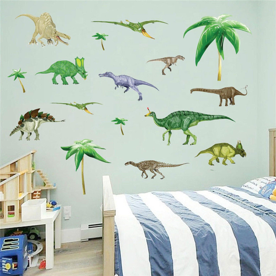 Jx Lclyl Removable Diy Dinosaur Wall Decal Stickers Vinyl