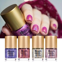 BeautyBigBang 6 bottles NEW 2018 Holographic Nail Polish Colorful Holo nailpolish nail varnish Glitter Nail Polish Set