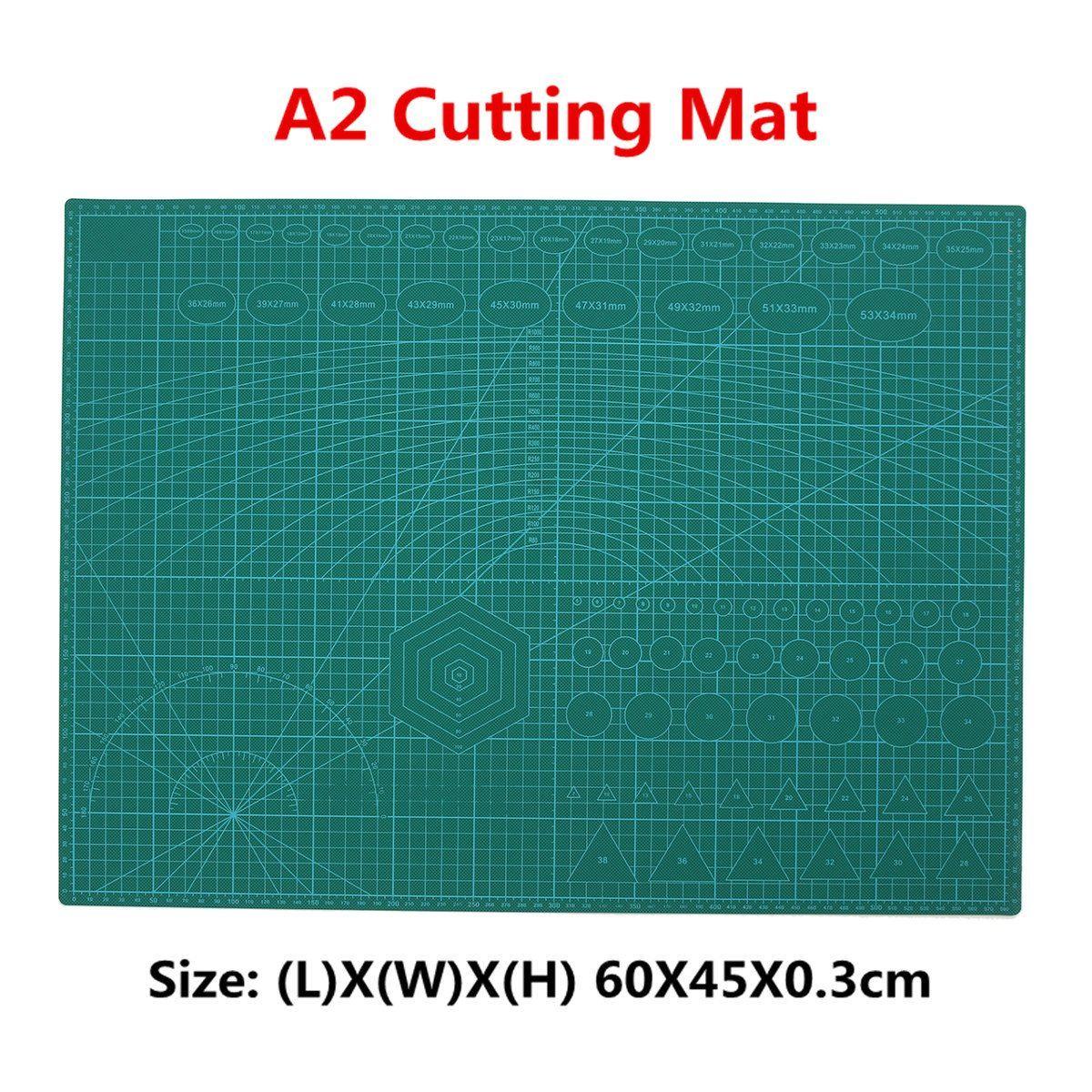 Коврик для резки A2, ПВХ, лоскутный коврик для резки с двойной печатью, самоисцеляющий коврик, крафтовый Квилтинг, скрапбукинг, 45x60 см, 3 мм