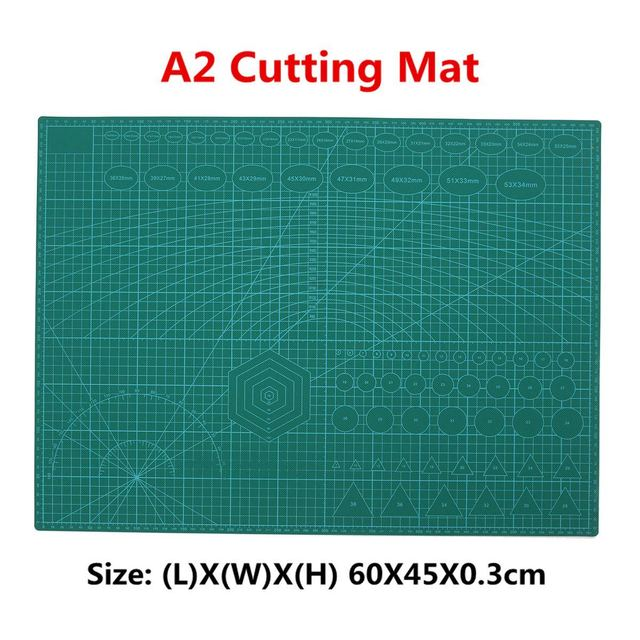 US $25 15 45% OFF|A2 PVC Cutting Mat Cutting Pad Patchwork Double Printed  Self Healing Cutting Mat Craft Quilting Scrapbooking Board 45X60CM 3mm-in