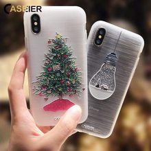 CASEIER 2020 Christmas Phone Case For iPhone XR 7 X XS MAX 8 6 6S Plus Soft TPU Silicone Cases For iphone 7 5 5S SE Back Covers цена и фото