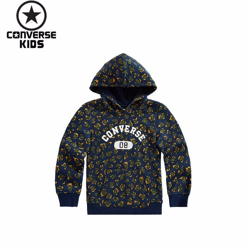 CONVERSE 3 Paper 8 Fracture Children's Garment Boy Autumn Sweater Leopard Print Printing Children Sweater #73121HO786X33 купить в Москве 2019