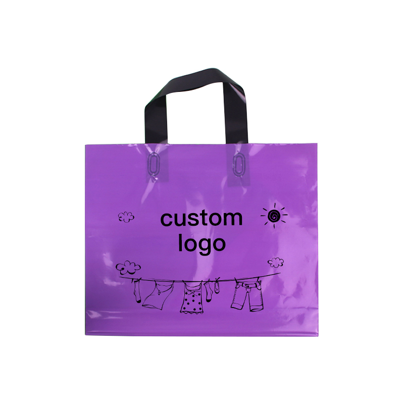 Embalaje personalizado de la bolsa del logotipo de esta ropa, bolsa de plástico, compras con mango-in Suministros de envoltorios y bolsas de regalo from Hogar y Mascotas    3