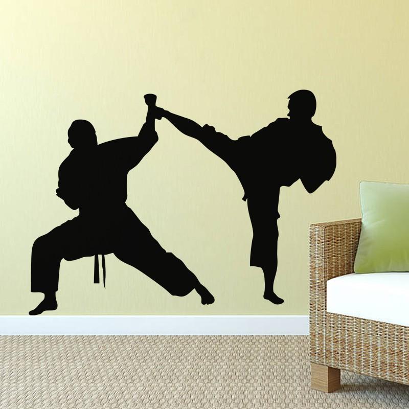 קראטה בעיטה הגנה מדבקות קיר ויניל - עיצוב לבית