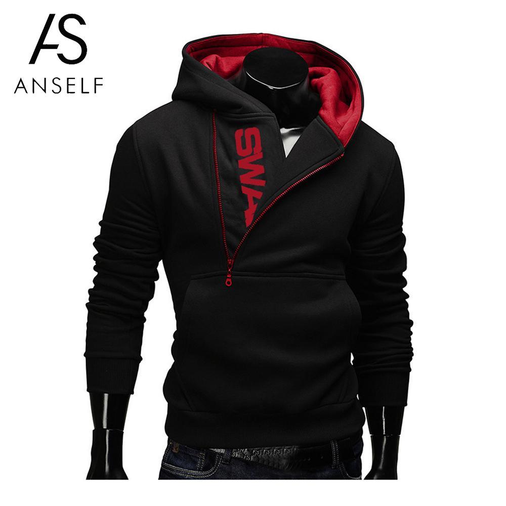 Fashion Cotton Men Hoodies Tracksuit Sweatshirt Men's Winter Warm Collar Cap Long Sleeve Sweat Homme Swag Pullover Hoodies 2019