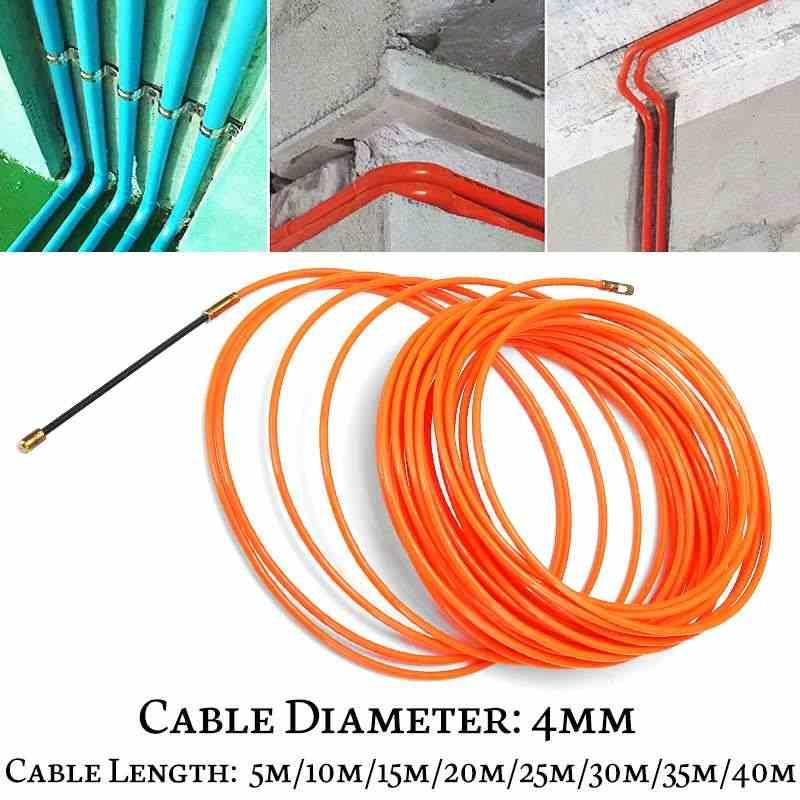 Dispositif de Guide Orange en Nylon, dispositif de Guide Orange en Nylon extracteurs de câble électrique conduit de serpent fil de poisson de 4mm 5 mètre