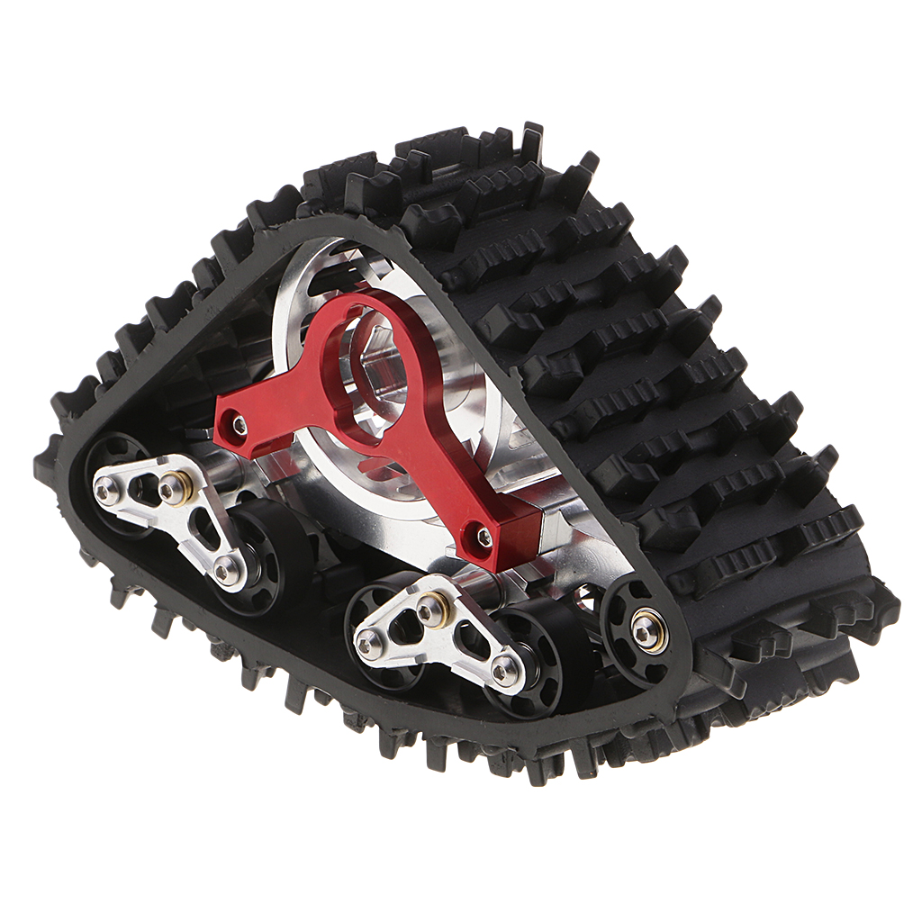 MagiDeal 1 10 Scale RC Truck Upgrade Parts Metal Snow Track Tire Tyre Wheel for Axial