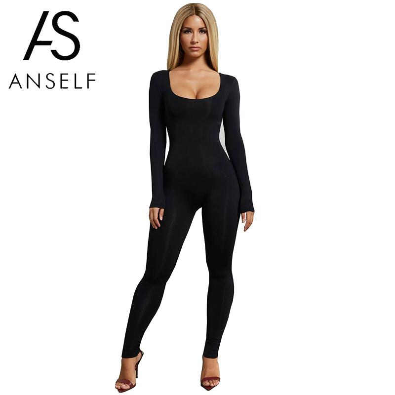 Detail Feedback Questions about Sexy Women Solid Color Bodysuit Long Sleeve  Zipper Skinny Pants Bodycon Jumpsuit Casual Catsuit Playsuit Women One  Piece ... 7711a1de1