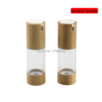 30pcs 30ml Empty Cosmetic Airless Bottle Bamboo Treatment Pump Travel Bottles Refillable Container