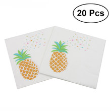 20Pcs Lunch Napkin Printed Napkin Paper for Birthday Dinner Party Favors Supplies (Pineapple)(China)