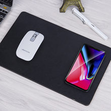 Elisona 2 in 1 QI Wireless Fast Charging Mouse Pad Charger For iPhone X 8 Plus Samsung Note 8 S8 S6 edge+ LG G3 G5 G6+(China)