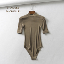 o-neck Five-point sleeve knitted bodysuits