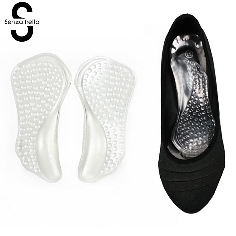 1 Pair Silicone Insoles For Women Shoes Orthotic Arch Support Gel Pads Non-slip Pain Relief Flat Feet Shoes Insoles ZH361
