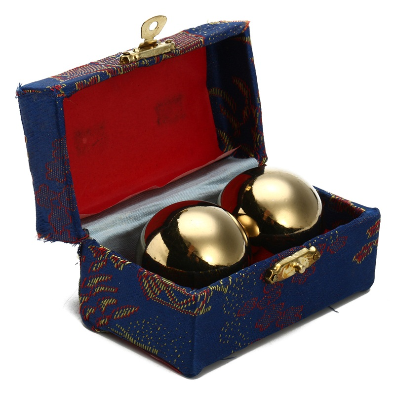 1Pair Metal Chinese Health Care Exercise Stress Hand Balls Relaxation Therapy Massager Wrist Solid Fitness Ball 38mm With Box