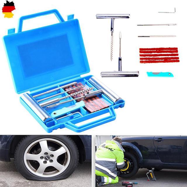 11Pcs Car Motorcycle Bike Emergency Heavy Duty Tubeless Tire Puncture Repair Kit Plug Set Car Tyre Repair Kit