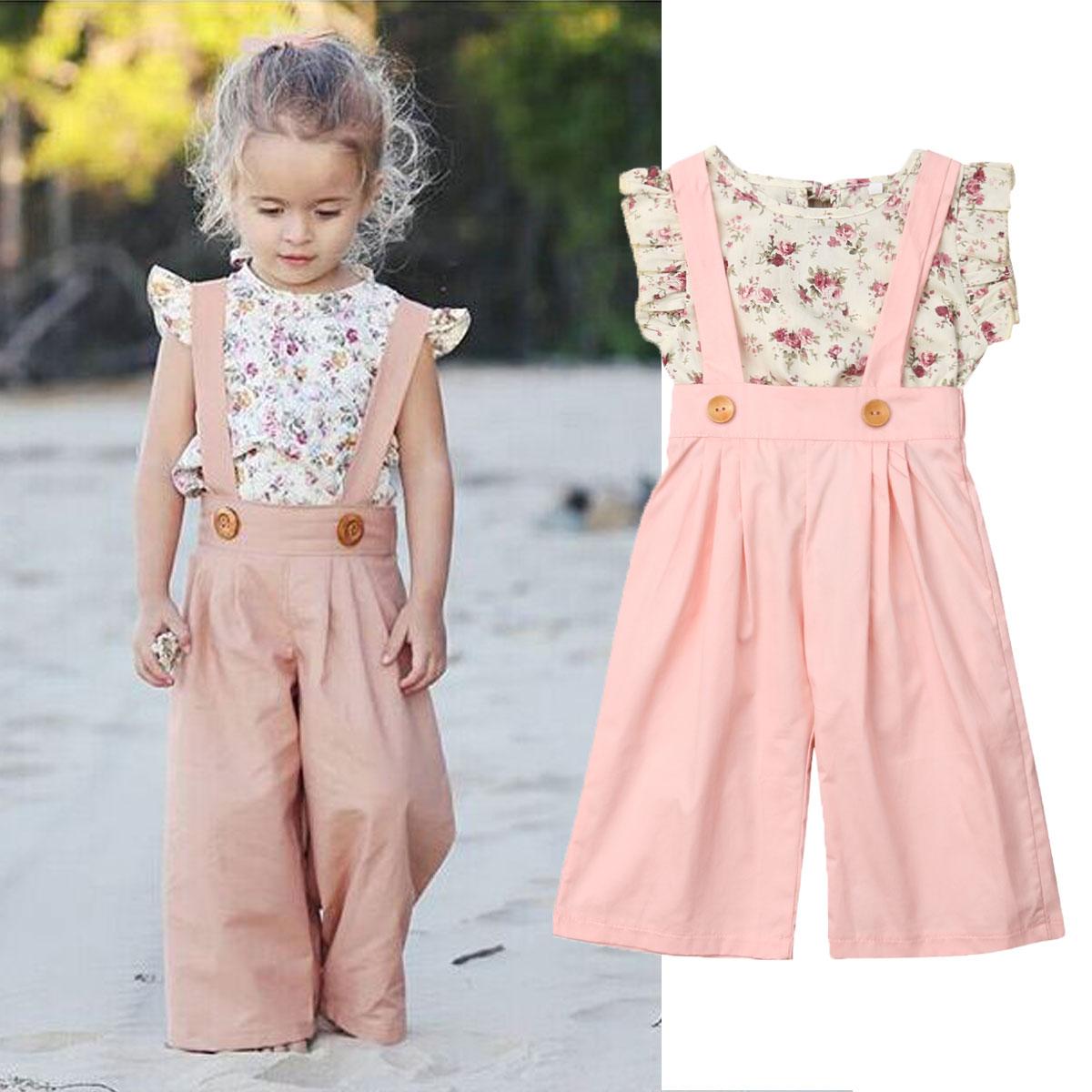 Hstore✿ Summer Girls Solid Print Ruffles Bow Swimwear Kids Baby Swimsuit Bikini Outfits