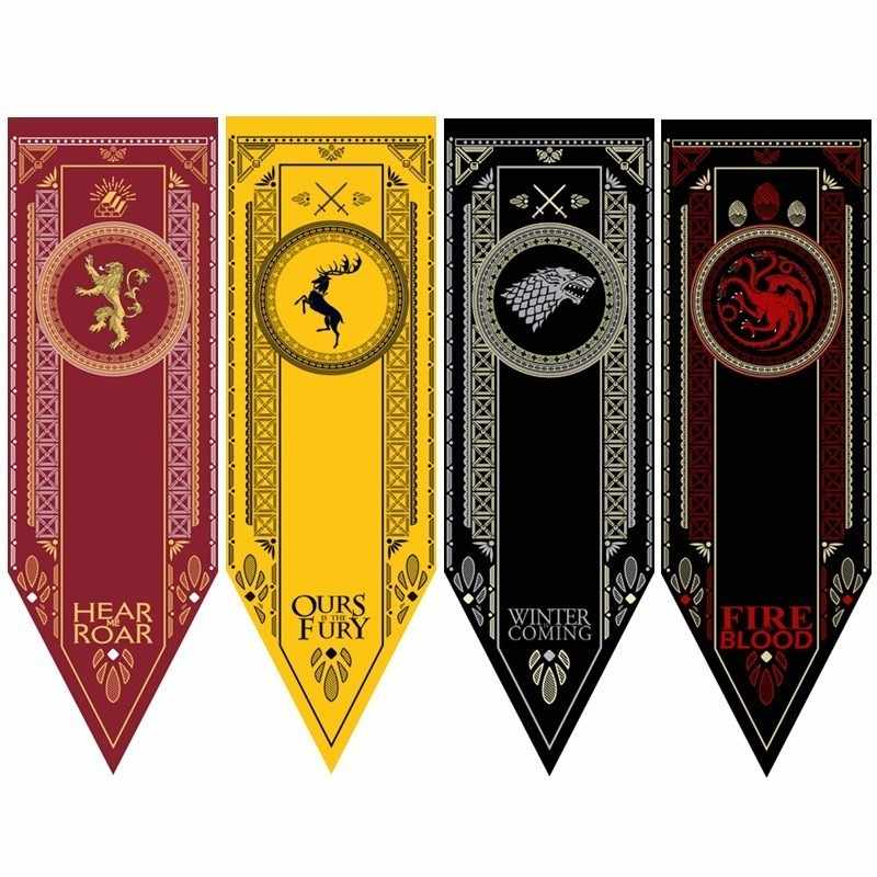 Game Of Thrones Flag Targaryen Stark Tully Lannister Baratheon Martell Bolton Flags and Banners Game of throne Home Decor Flag