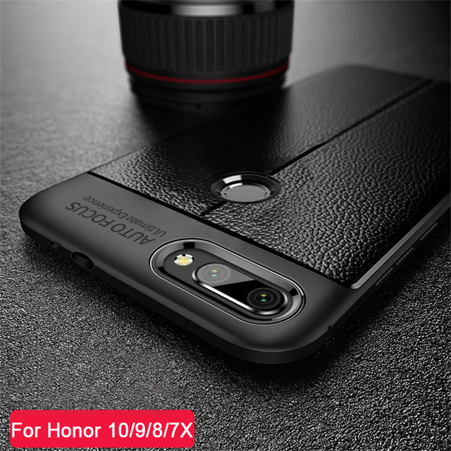 newest 24f70 23274 US $1.13 45% OFF|Waterproof Shockproof Phone Case For Huawei Honor 8 9 10  Lite 7X 6X Leather Pattern TPU Cover Cases For Huawei 9 9i 7A 7C DYee-in ...