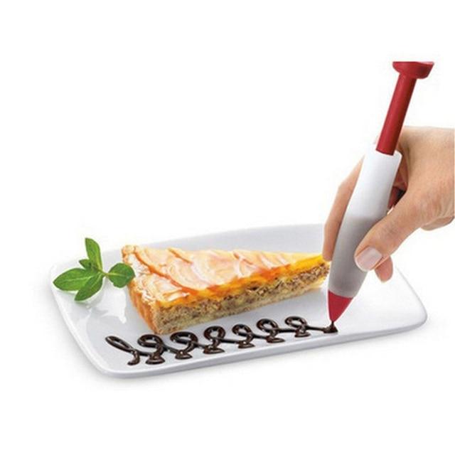 IVYSHION Bánh Ngọt Kem Chocolate Ống Tiêm Ốp Dẻo Silicon Bút Sơn Bánh Cookie Ống Dạng Ống Dẫn Đầu Phun Dụng Cụ Kem Trang Trí Ống Tiêm