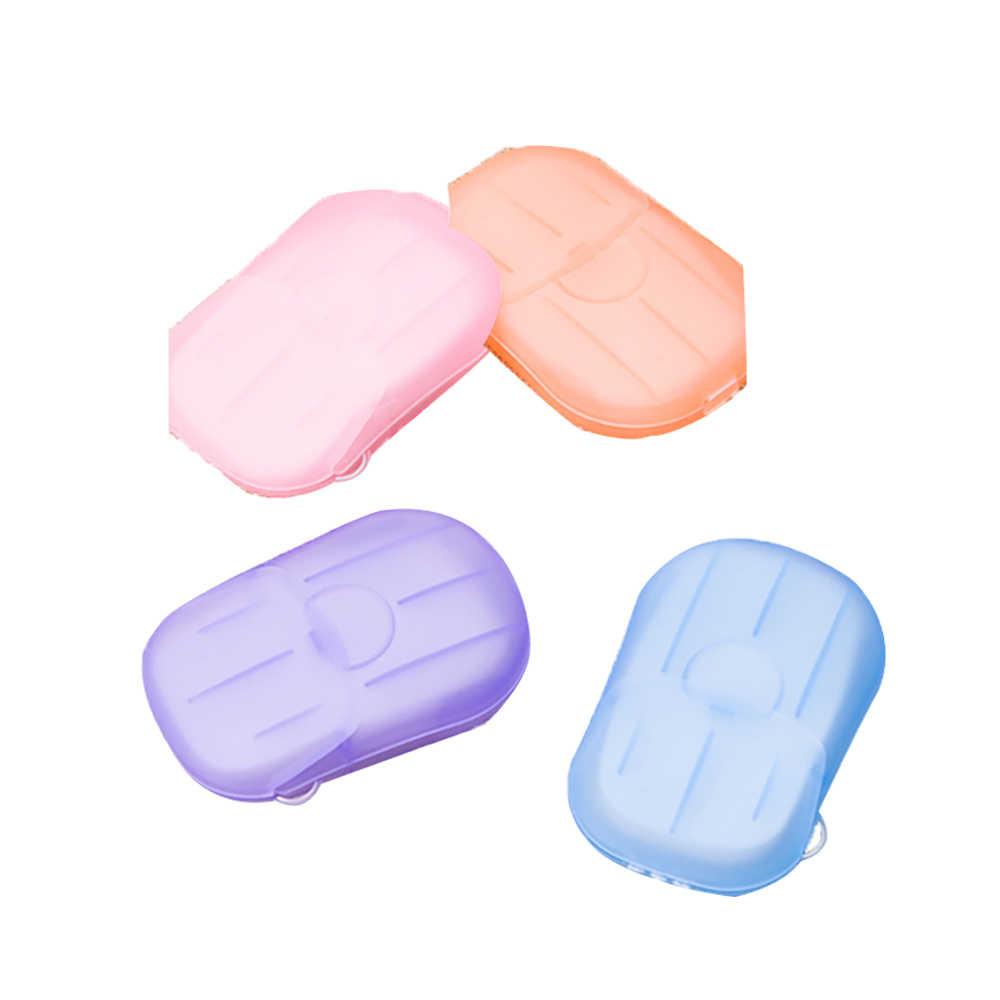 60 pçs/lote Mini Desinfecção Sabão Lavar a Mão Rosto Olhos Sabão Em Caixa de Papel Descartáveis de Papel Espuma Skincare Viagem Conveniente