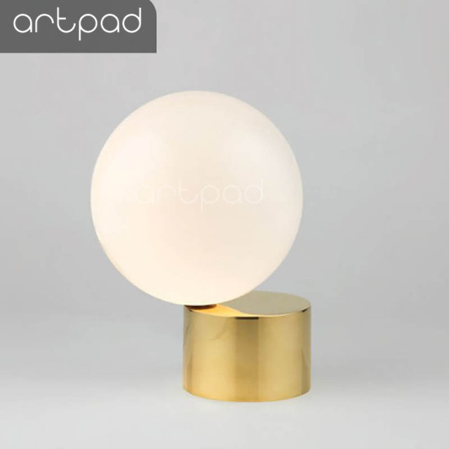 Artpad Nordic Modern Round Ball Glass Led Table Lamp Simple Creative