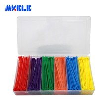 Nylon Cable Ties Self-locking 6 Colors Plastic Box 3*100mm Colorful Wire Tie Zip From Makerele Free shipping