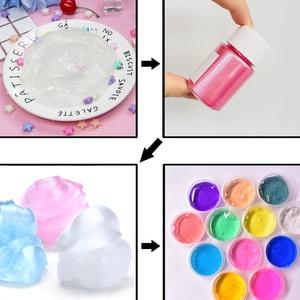 Image 2 - Kit DIY de juguetes para niños para hacer Baba, polvo brillante, relleno, pigmento, decoración, colorante en polvo de perla, Slime esponjoso, accesorio
