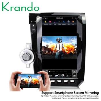 "Krando Android 9.0 13.6"" Tesla Vertical screen car audio radio gps navigation for Toyota tundra 2007-2011 multimedia system"
