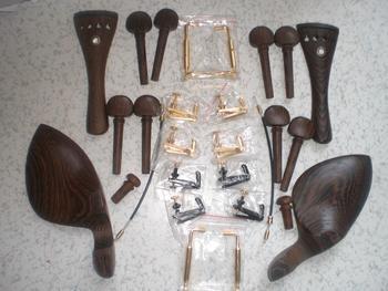 Skrzypce części Wenge drewno skrzypce montażu 4 4 skrzypce ogon kawałek skrzypce kołki reszta podbródek różnych części jak obrazka przedstawienie tanie i dobre opinie Do skrzypiec Bai Fei Te
