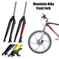 Aluminum MTB Carbon Bike Bicycle Rigid Front Fork Disc Brake Mount Tapered Mountain Road Bike Cycling Fork Bicycle Parts 10x67cm