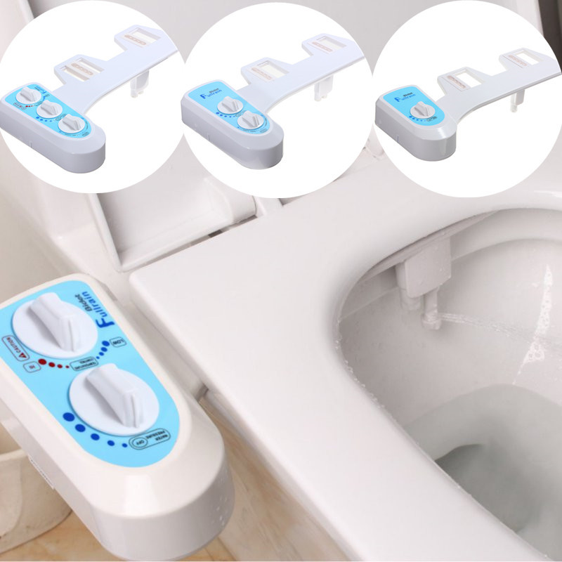 Cold/Heated Water Toilet Seat Bidet Sprayer Bidet Attachment Fresh Water Spray Non-electric Mechanical Shower Nozzle save paper
